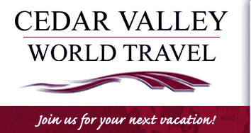 Cedar Valley World Travel logo